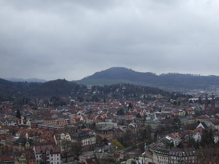 The view Freiburg from the top