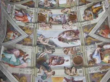 You're not allowed to take photos inside the Sistine Chapel...oops!