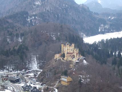 Hohenschwangau (the ugly step sister) from afar