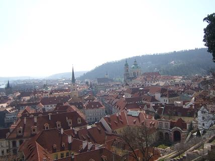 View of Prague from outside the walls of Prague Castle
