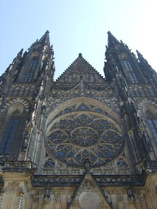 Right outside St Vitus Cathedral at Prague Castle