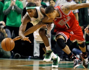 Derrick Rose vs Rajon Rondo has been great