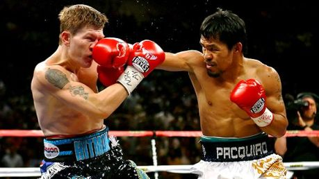 Pacquiao landed against Hatton almost at will