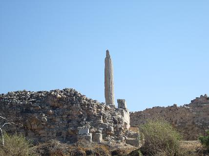 All that's left of the Temple of Apollo on Aegina