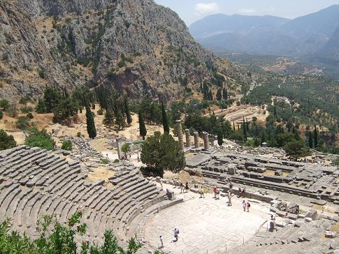 The Theatre and Temple at the Sanctuary of Apollo in Delphi