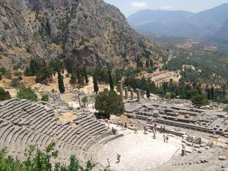 The Theatre and Temple at the Sanctuary of Apollo in Delphi