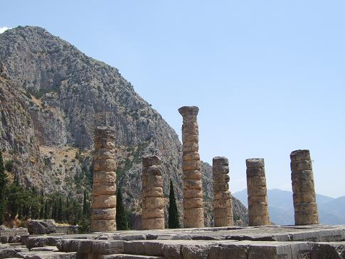 The Temple of Apollo at Delphi