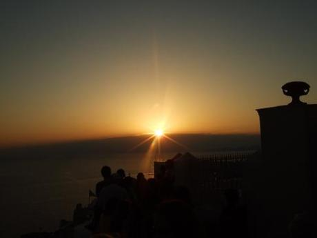 The oft-photographed sunset from Oia