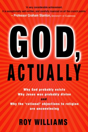 The obvious cover design is a good indication of the type of people 'God, Actually' is targeting