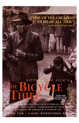 an analysis of the bicycle thief Bicycle thieves (also called the bicycle thief) study guide contains a biography of director vittorio de sica, literature essays, quiz questions, major themes, characters, and a full summary and an.